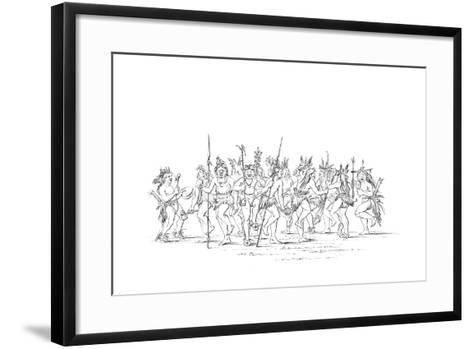 The Sioux Tribe Performing a Beggar Dance, 1841-Myers and Co-Framed Art Print