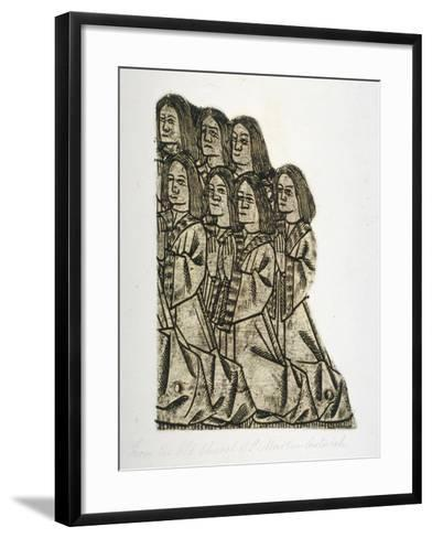 Memorial Brass in the Church of St Martin Outwich, City of London, 1800--Framed Art Print