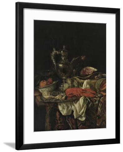 Still Life with a Silver Pitcher, 1660S-Abraham Hendricksz van Beijeren-Framed Art Print
