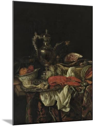 Still Life with a Silver Pitcher, 1660S-Abraham Hendricksz van Beijeren-Mounted Giclee Print