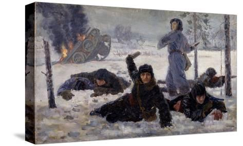 The Tank Crew Fighting, 1940S-Yekaterina Sergeyevna Zernova-Stretched Canvas Print