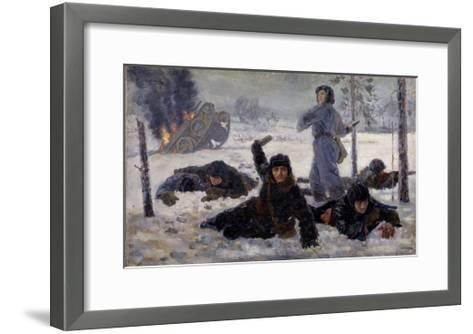 The Tank Crew Fighting, 1940S-Yekaterina Sergeyevna Zernova-Framed Art Print