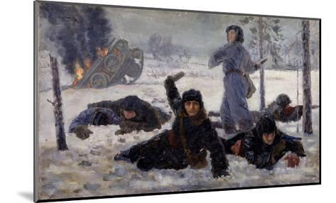 The Tank Crew Fighting, 1940S-Yekaterina Sergeyevna Zernova-Mounted Giclee Print