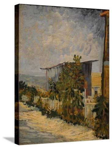 Shed at the Montmartre with Sunflower, 1887-Vincent van Gogh-Stretched Canvas Print