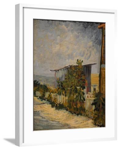 Shed at the Montmartre with Sunflower, 1887-Vincent van Gogh-Framed Art Print
