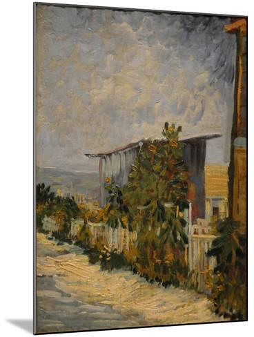 Shed at the Montmartre with Sunflower, 1887-Vincent van Gogh-Mounted Giclee Print