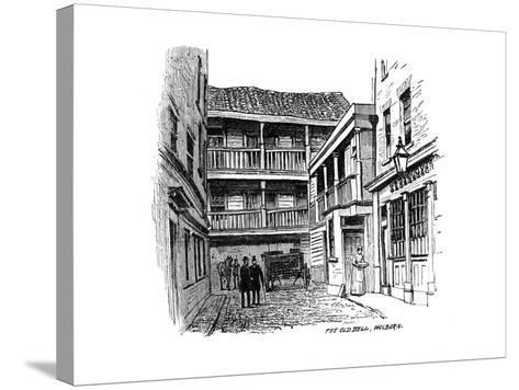 The Old Bell Coaching Inn, Holborn, London, 1887--Stretched Canvas Print
