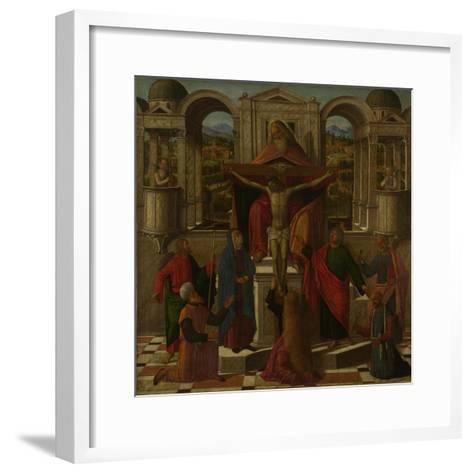 Symbolic Representation of the Crucifixion, C. 1492-Giovanni di Niccolò Mansueti-Framed Art Print