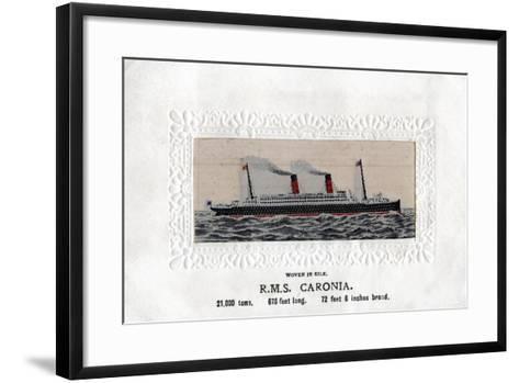 RMS Caronia, 20th Century--Framed Art Print