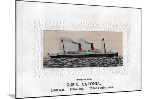 RMS Caronia, 20th Century--Mounted Giclee Print