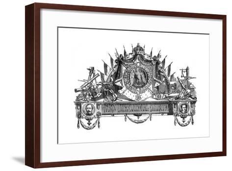Emblem of the Paris International Exhibition, 1867--Framed Art Print