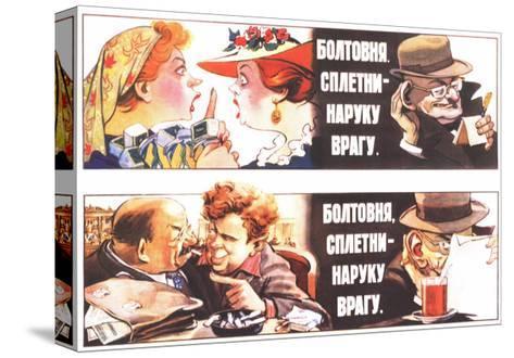 Talks, Rumours are to the Foe's Good, 1954-Veniamin Markovich Briskin-Stretched Canvas Print