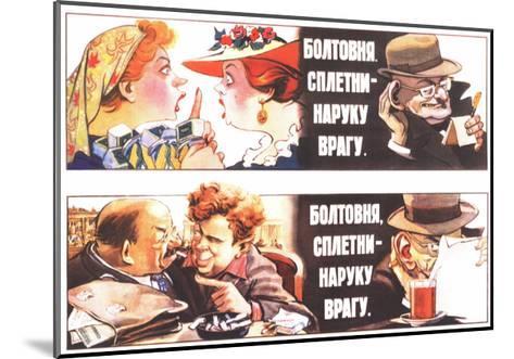 Talks, Rumours are to the Foe's Good, 1954-Veniamin Markovich Briskin-Mounted Giclee Print
