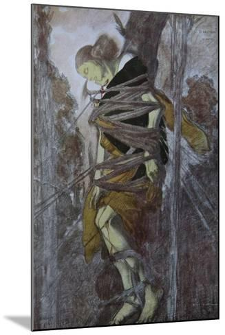 Ida Rubinstein in the Play the Martyrdom of St. Sebastian by Gabriele D'Annuzio, 1922-L?on Bakst-Mounted Giclee Print