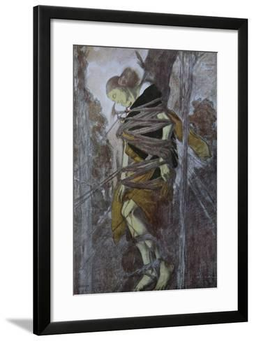 Ida Rubinstein in the Play the Martyrdom of St. Sebastian by Gabriele D'Annuzio, 1922-L?on Bakst-Framed Art Print