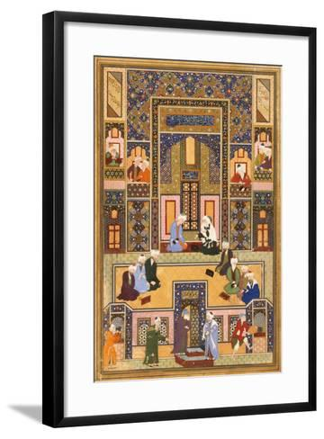The Meeting of the Theologians, 1537-1550- Abd Allah Musawwir-Framed Art Print