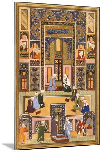 The Meeting of the Theologians, 1537-1550- Abd Allah Musawwir-Mounted Giclee Print