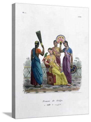 Wife of a Rajah, 1828- Marlet et Cie-Stretched Canvas Print