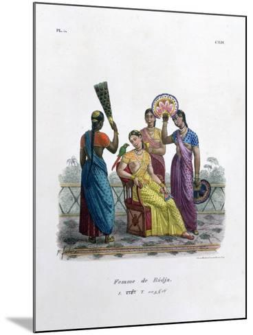 Wife of a Rajah, 1828- Marlet et Cie-Mounted Giclee Print