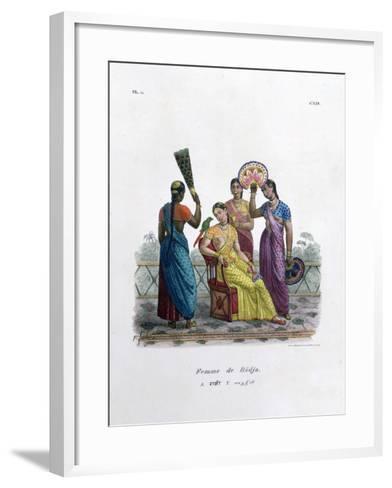 Wife of a Rajah, 1828- Marlet et Cie-Framed Art Print