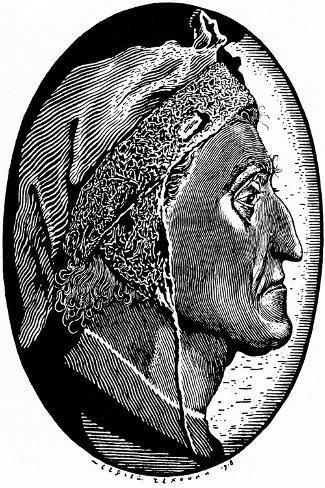 Dante Alighieri (1265-132), 1918-Sergei Vasilievich Chekhonin-Stretched Canvas Print