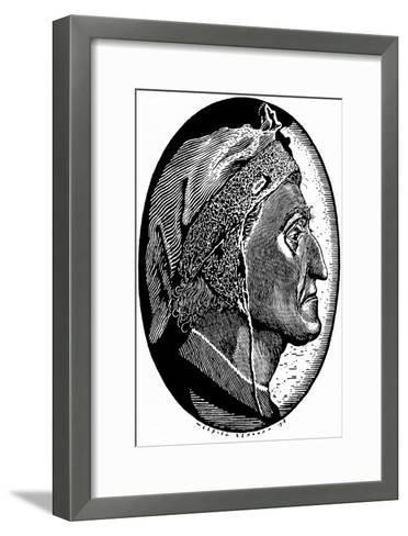 Dante Alighieri (1265-132), 1918-Sergei Vasilievich Chekhonin-Framed Art Print