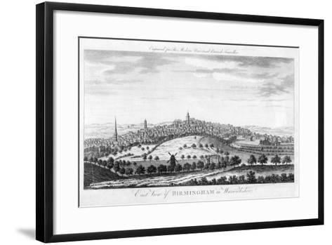 East View of Birmingham in Warwickshire, 1779--Framed Art Print