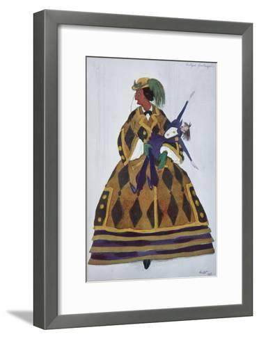 Englishwoman. Costume Design for the Ballet the Magic Toy Shop by G. Rossini, 1919-L?on Bakst-Framed Art Print