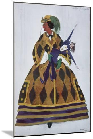 Englishwoman. Costume Design for the Ballet the Magic Toy Shop by G. Rossini, 1919-L?on Bakst-Mounted Giclee Print
