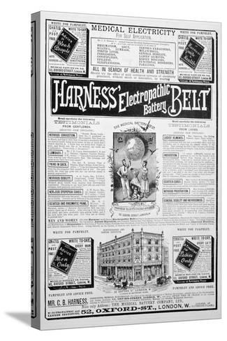 Harness Electropathic Battery Belt Advert, 1893--Stretched Canvas Print