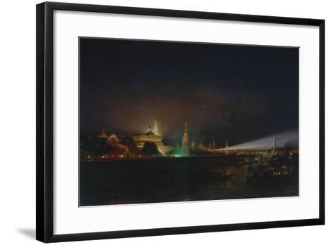 Illumination of the Moscow Kremlin, 1883-Alexei Petrovich Bogolyubov-Framed Art Print