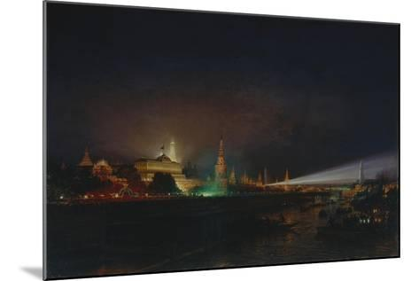 Illumination of the Moscow Kremlin, 1883-Alexei Petrovich Bogolyubov-Mounted Giclee Print