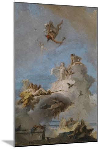 The Triumph of Venus, Between 1762 and 1765-Giandomenico Tiepolo-Mounted Giclee Print