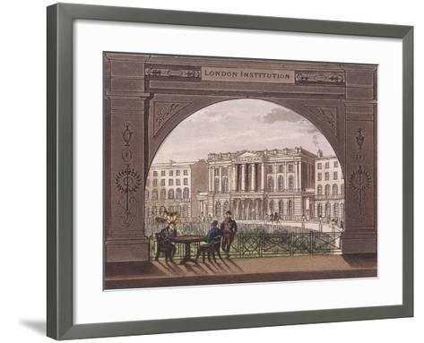 London Institution, Finsbury Circus, C1820--Framed Art Print