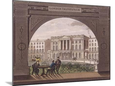 London Institution, Finsbury Circus, C1820--Mounted Giclee Print
