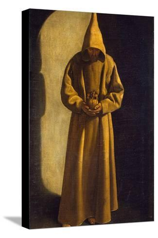Saint Francis with a Skull in His Hands, C.1630-Francisco de Zurbar?n-Stretched Canvas Print