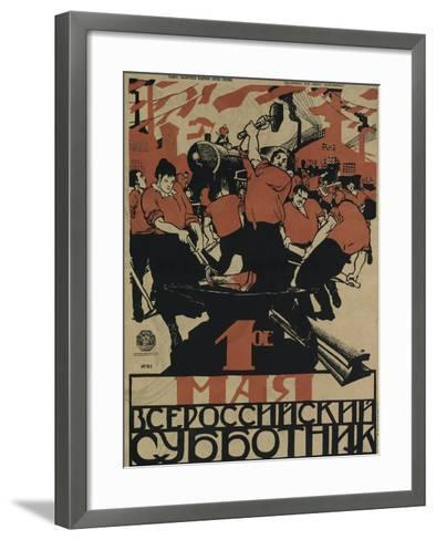 The 1st of May Is the All-Russian Subbotnik, 1920-Dmitri Stachievich Moor-Framed Art Print