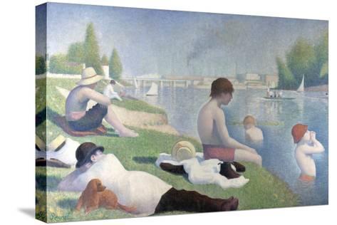 Bathers at Asni?res (Baigneurs ? Asni?re), 1884-Georges Seurat-Stretched Canvas Print