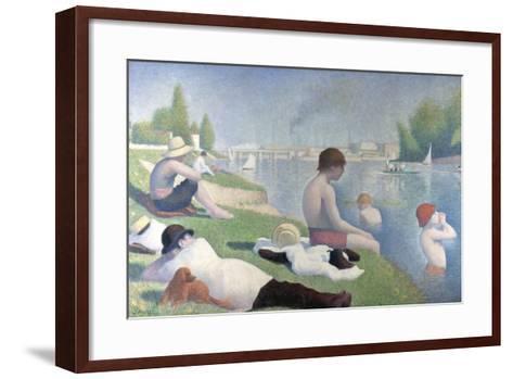 Bathers at Asni?res (Baigneurs ? Asni?re), 1884-Georges Seurat-Framed Art Print
