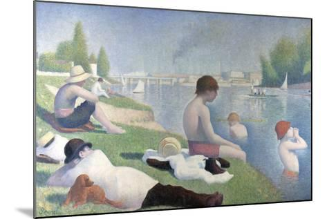 Bathers at Asni?res (Baigneurs ? Asni?re), 1884-Georges Seurat-Mounted Giclee Print