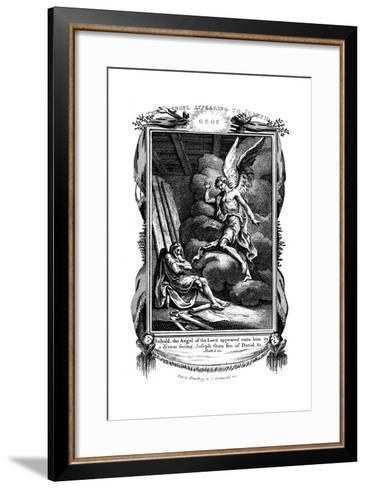 Joseph's Dream: Behold, the Angel of the Lord Appeared Unto Him in a Dream, 1804--Framed Art Print