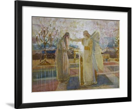 Archangel Gabriel Strike Zacharias Dumb, End 1840S-Alexander Andreyevich Ivanov-Framed Art Print