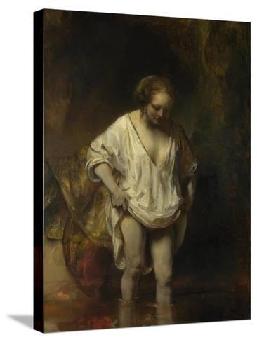 A Woman Bathing in a Stream (Hendrickje Stoffel), 1654-Rembrandt van Rijn-Stretched Canvas Print
