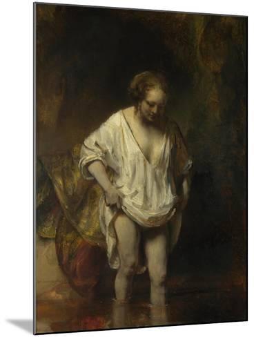 A Woman Bathing in a Stream (Hendrickje Stoffel), 1654-Rembrandt van Rijn-Mounted Giclee Print