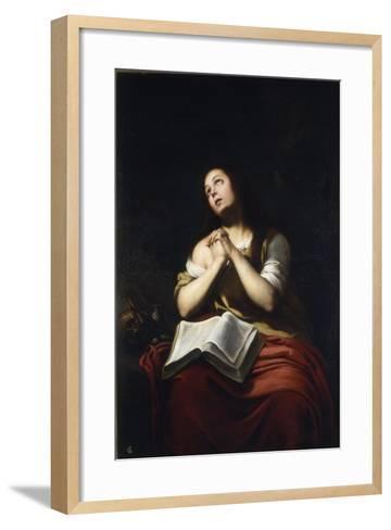 The Repentant Mary Magdalene-Bartolom? Esteb?n Murillo-Framed Art Print