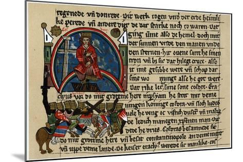 Khosrau II of Persia with Cross and Dove, on His Mechanical Throne--Mounted Giclee Print