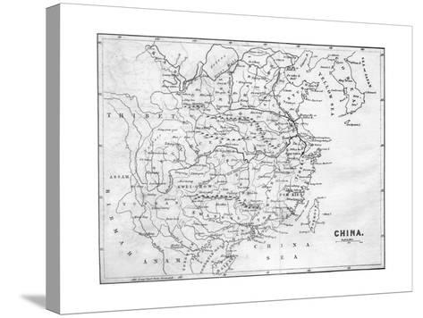 Map of China, 1847--Stretched Canvas Print