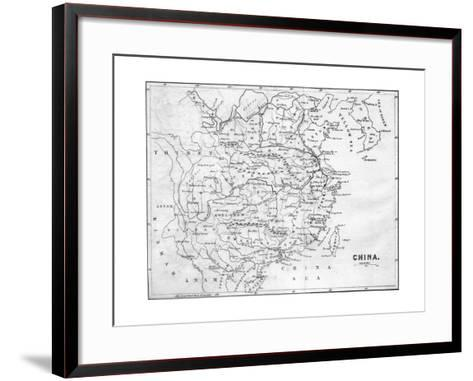 Map of China, 1847--Framed Art Print