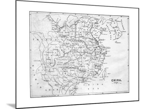 Map of China, 1847--Mounted Giclee Print