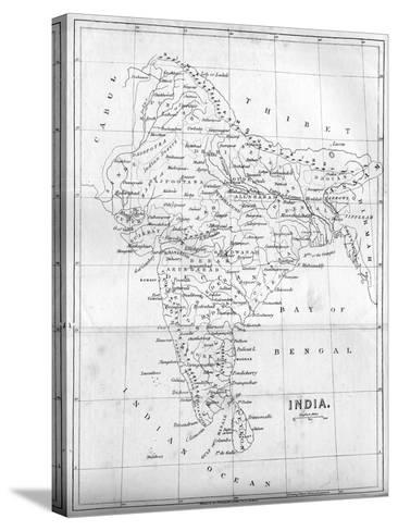 Map of India, 1847--Stretched Canvas Print